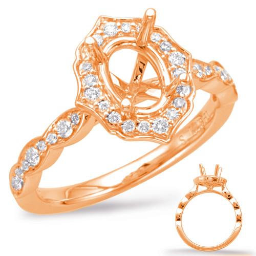 Diamond Engagement Ring  in 14K Rose Gold   EN7948-6X4MRG