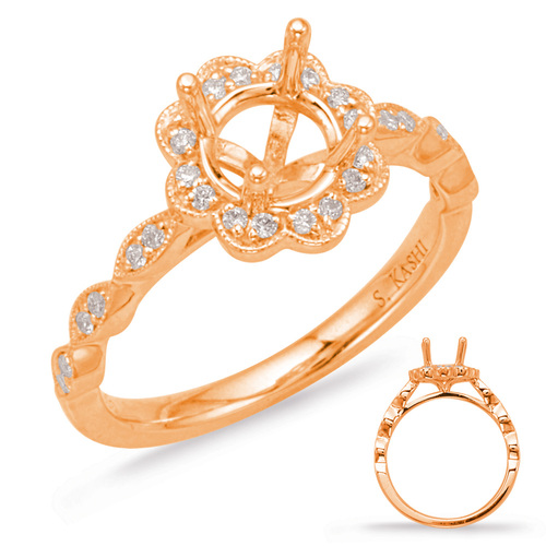 Diamond Engagement Ring  in 14K Rose Gold   EN8038-50RG