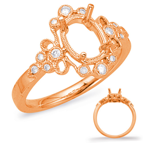Diamond Engagement Ring  in 14K Rose Gold   EN8044-6X4MRG