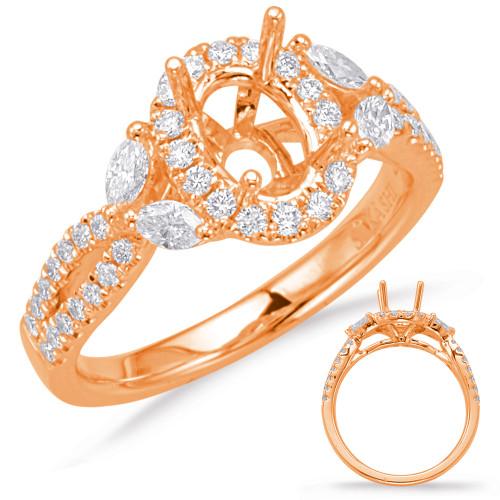 Diamond Engagement Ring  in 14K Rose Gold   EN8049-7X5MRG