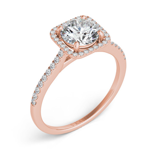 Diamond Engagement Ring  in 14K Rose Gold    EN7330-50RG