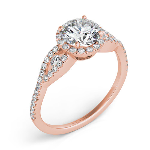 Diamond Engagement Ring  in 14K Rose Gold    EN7365-75RG