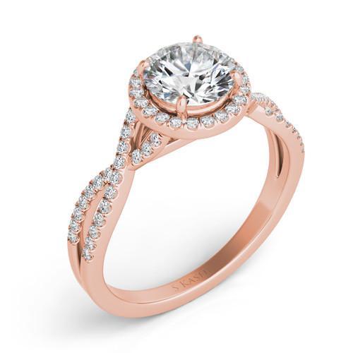 Diamond Engagement Ring  in 14K Rose Gold    EN7371-50RG