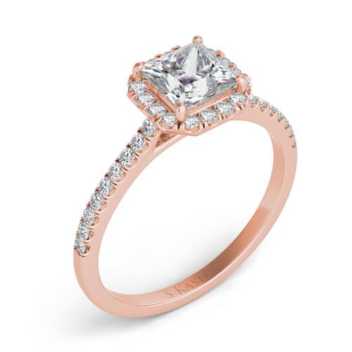 Diamond Engagement Ring  in 14K Rose Gold    EN7420-5.5MRG