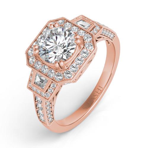 Diamond Engagement Ring  in 14K Rose Gold    EN7160-15RG