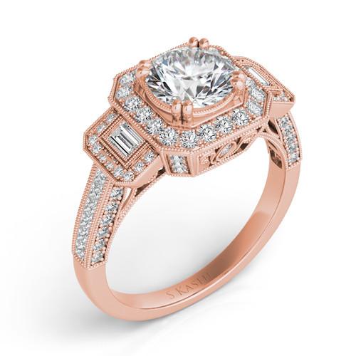 Diamond Engagement Ring  in 14K Rose Gold    EN7162-50RRG