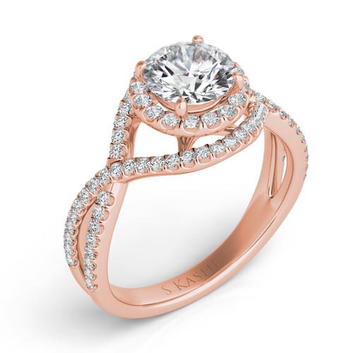 Diamond Engagement Ring  in 14K Rose Gold    EN7368-1RG