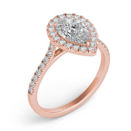Diamond Engagement Ring  in 14K Rose Gold    EN7569-8X5.5MRG