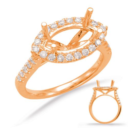 Diamond Engagement Ring  in 14K Rose Gold    EN7780-6X3.5MRG