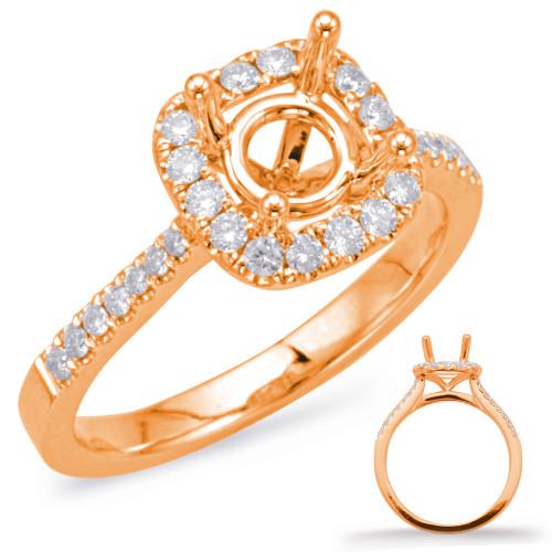 Diamond Engagement Ring  in 14K Rose Gold    EN7939-50RG