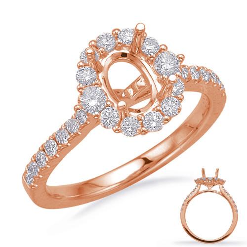 Diamond Engagement Ring  in 14K Rose Gold    EN8217-7X5MRG