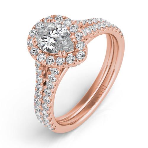 Diamond Engagement Ring  in 14K Rose Gold    EN7304-7X5MRG
