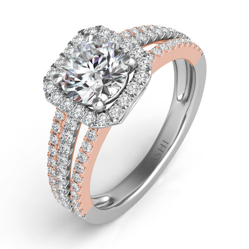 Diamond Engagement Ring  in 14K Rose and White Gold   EN7339RW