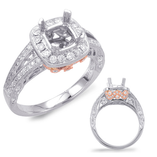 Diamond Engagement Ring  in 14K Rose and White Gold   EN7629-1RW
