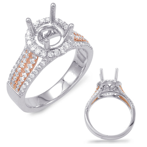 Diamond Engagement Ring  in 14K Rose and White Gold   EN7686-1RW