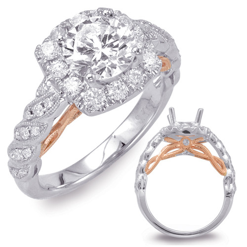 Diamond Engagement Ring  in 14K Rose and White Gold   EN7699-1RW