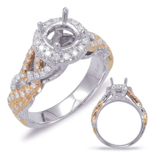 Diamond Engagement Ring  in 14K Rose and White Gold   EN7813-1RW