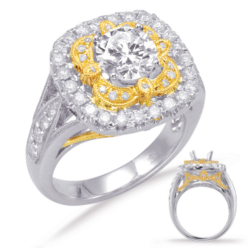 Diamond Engagement  in 14K Yellow and White Gold   EN7741-1YW