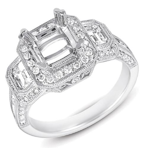 Diamond Engagement Ring  in 14K White Gold   EN7162-2SWG