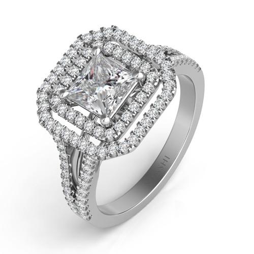Diamond Engagement Ring  in 14K White Gold   EN7477-6.0WG