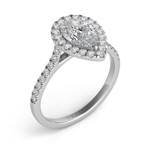 Diamond Engagement Ring  in 14K White Gold   EN7569-9X6MWG