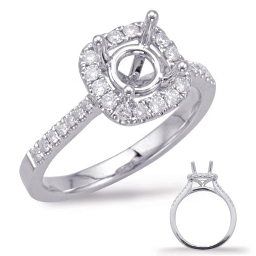 Diamond Engagement Ring  in 14K White Gold   EN7939-75WG