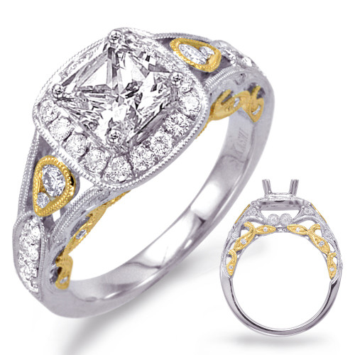 Diamond Engagement  in 14K Yellow and White Gold   EN7727-5.5MYW
