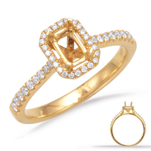 Diamond Engagement Ring  in 14K Yellow Gold    EN7598-6X4MYG