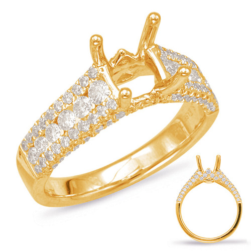 Diamond Engagement Ring  in 14K Yellow Gold    EN7880-15YG