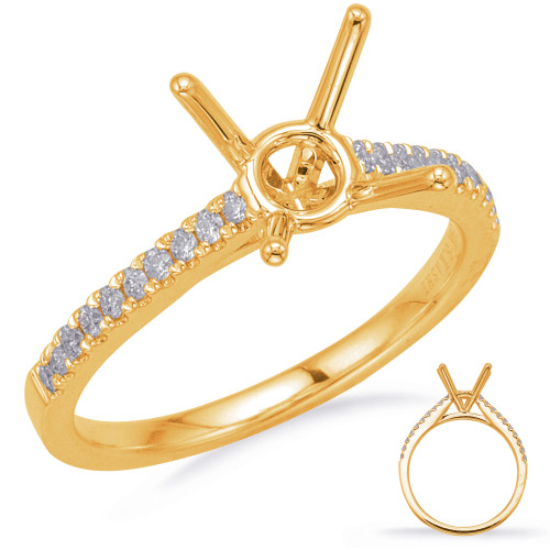 Diamond Engagement Ring  in 14K Yellow Gold    EN8200-50YG