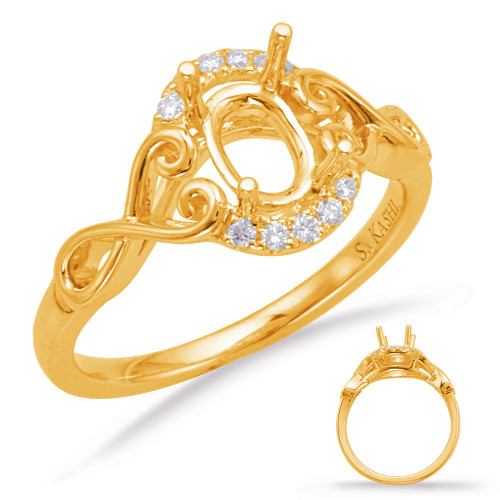 Diamond Engagement Ring  in 14K Yellow Gold   EN8012-6X4MYG