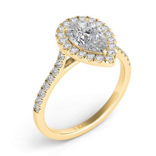 Diamond Engagement Ring  in 14K Yellow Gold    EN7569-10X7MYG
