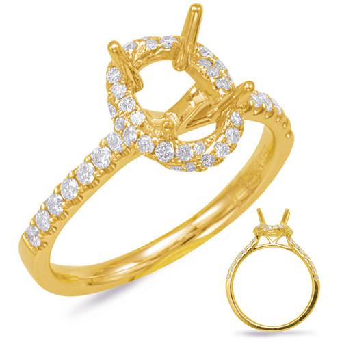 Diamond Engagement Ring  in 14K Yellow Gold    EN7833-7X5MYG