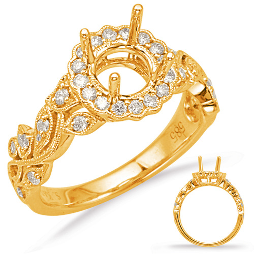 Diamond Engagement Ring  in 14K Yellow Gold    EN8020-75YG
