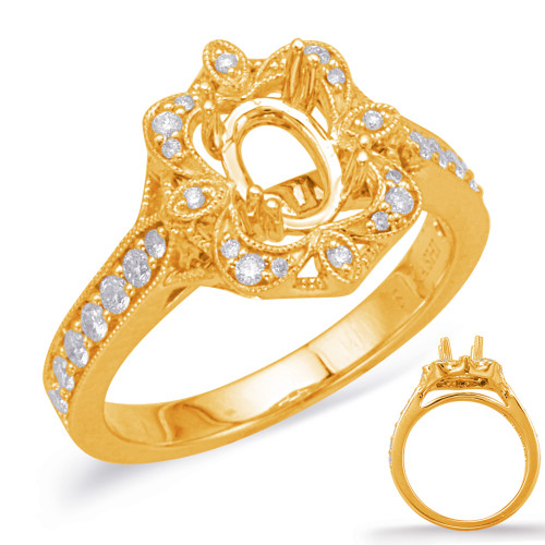 Diamond Engagement Ring  in 14K Yellow Gold    EN8045-7X5MYG