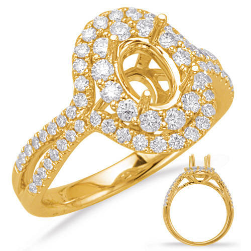 Diamond Engagement Ring  in 14K Yellow Gold    EN8068-7X5MYG