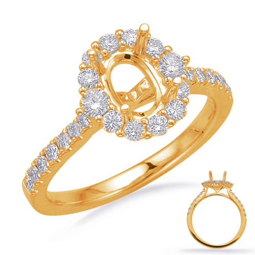 Diamond Engagement Ring  in 14K Yellow Gold    EN8217-8X6MYG
