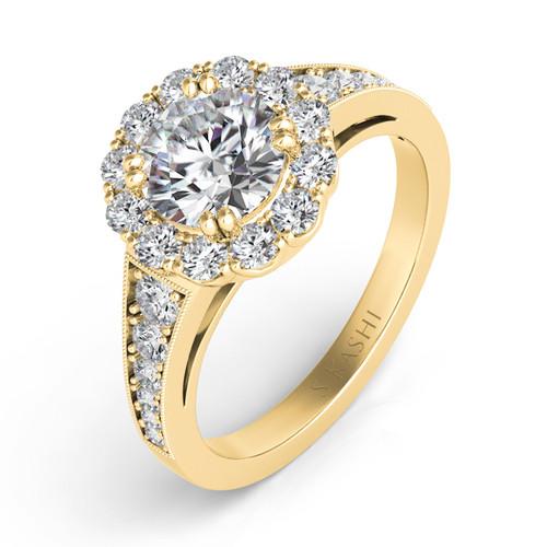 Diamond Engagement Ring  in 14K Yellow Gold    EN7292-1RDYG