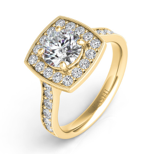 Diamond Engagement Ring  in 14K Yellow Gold    EN7394-15YG