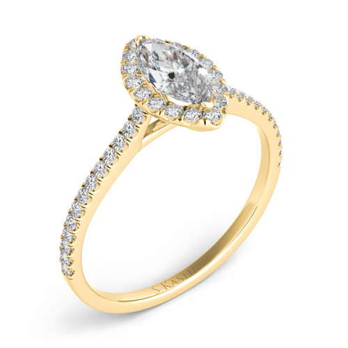 Diamond Engagement Ring  in 14K Yellow Gold    EN7599-12X6MYG