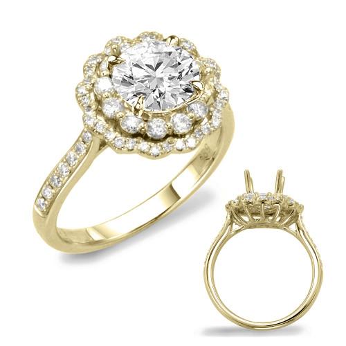 Diamond Engagement Ring  in 14K Yellow Gold    EN7639-1YG