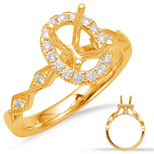 Diamond Engagement Ring  in 14K Yellow Gold    EN7835-7X5MYG