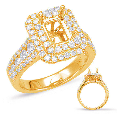 Diamond Engagement Ring  in 14K Yellow Gold    EN7906-7X5MYG