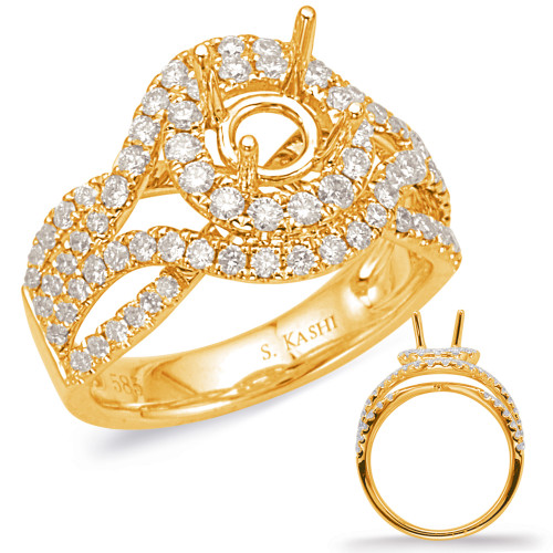 Diamond Engagement Ring  in 14K Yellow Gold    EN8030-2YG