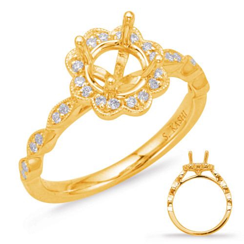 Diamond Engagement Ring  in 14K Yellow Gold    EN8038-25YG
