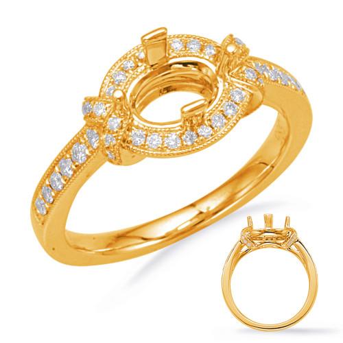 Diamond Engagement Ring  in 14K Yellow Gold    EN8043-6X4OVYG