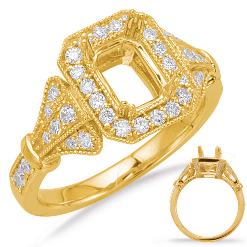 Diamond Engagement Ring  in 14K Yellow Gold    EN8069-7X5MYG