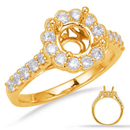 Diamond Engagement Ring  in 14K Yellow Gold    EN8078-1YG