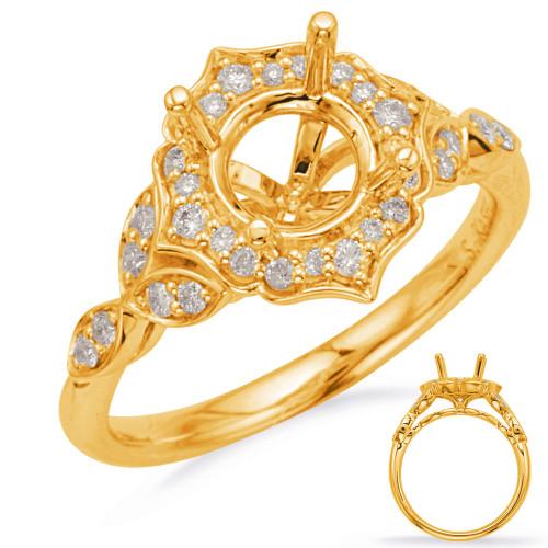 Diamond Engagement Ring  in 14K Yellow Gold    EN8168-1YG