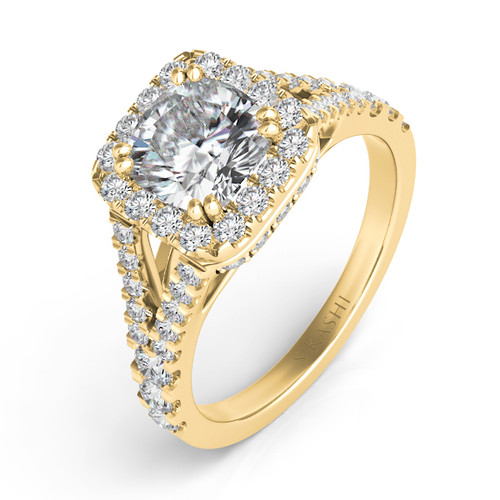 Diamond Engagement Ring  in 14K Yellow Gold    EN7303-6.5MCYG